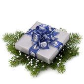 Silver gift box — Fotografia Stock