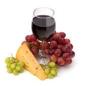 Full red wine glass goblet — Stock Photo