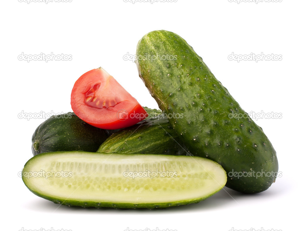 Cucumber vegetable isolated on white background  Stock Photo #11073473