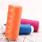 Spool of thread. Sew accessories. — Stock Photo