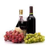 Full red wine bottle — Stock Photo