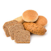 Bread loafs and buns variety — Stock Photo