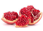 Broken pomegranate segment — Stock Photo