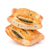 Puff pastry bun isolated on white background. — Stock Photo