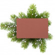 Christmas decoration with greeting card -  