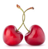 Two heart shaped cherry berries — Stock Photo