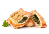 Puff pastry bun isolated on white background. — 图库照片