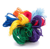 Color threads bunch — Stock Photo
