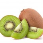 Whole kiwi fruit and his sliced segments — Stock Photo #12111170