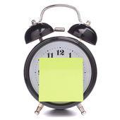 Väckarklocka med klibbigt papper — Stockfoto