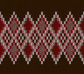 Style Seamless Pink Brown Red Color Knitted Pattern — Stok Vektör