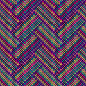 Multicolored Seamless Funny Knitted Pattern — ストックベクタ