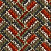 Vzor bezešvé pletené styl — Stock vektor