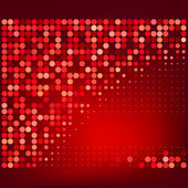 Abstracto rojo semitono puntos vector fondo — Vector de stock