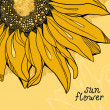 Sunflower vector background greetings card — Stock Photo #11827331