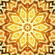 Shiny golden kaleidoscope star — Stock Photo
