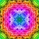 Colorful fractal mosaic background — Stock Photo