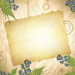 Vintage grunge paper at wooden background — Stock Vector