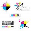 CMYK-Design-set — Stockvektor