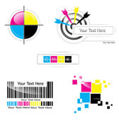 CMYK design set — Stock Vector