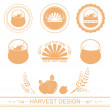 Different harvest designs — Stock Vector