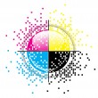 Creative CMYK design - Stock Vector