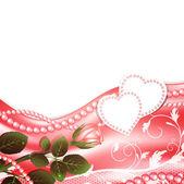 Wedding love frame — Stock Vector