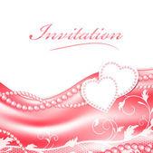 Marco de amor boda — Vector de stock