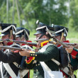 Stock Photo: Borodino battle re-enactment