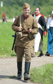 Borodino battle re-enactment — Stock Photo