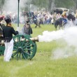 Stock Photo: Borodino battle. Soldiers shutting