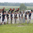 Borodino battle. Soldiers in row — Stock Photo