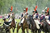 Borodino battle. Cavalry atack — Stock Photo