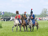Borodino battle. Cavalry wariors — Stock Photo