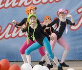 Ensemble of culture dance Rainbow kids — Stock Photo