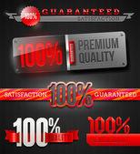 Vector set - sinais e emblemas de 100% rótulos de alta qualidade — Vetorial Stock