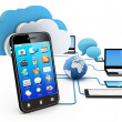Cloud computing concept — Stock Photo #11530310