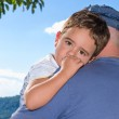 Boy with father — Stock Photo #11060541