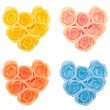 Collection hearts from flower soap — Stock Photo