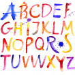 Alphabet. Watercolor - Stock Vector