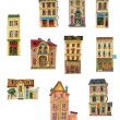 Vintage buildings - Stock Vector
