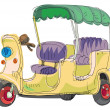 Moto rickshaw - Stock Vector