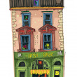 Old cafe facades - cartoon - Stock Vector