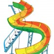 Water park - slide - cartoon - Stock Vector
