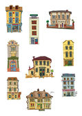 Vintage buildings — Stock Vector