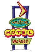 Motel sign — Stock Vector