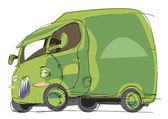 Küçük kamyon — Stok Vektör