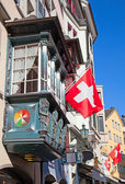 Old street in Zurich — Stockfoto
