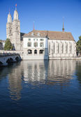 """Grossmunster"" cathedral in Zurich — Stock Photo"