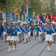 Swiss National Day parade in Zurich — Stock Photo